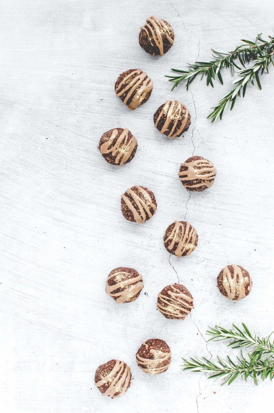 No-Bake Gingerbread Mounds on concrete background