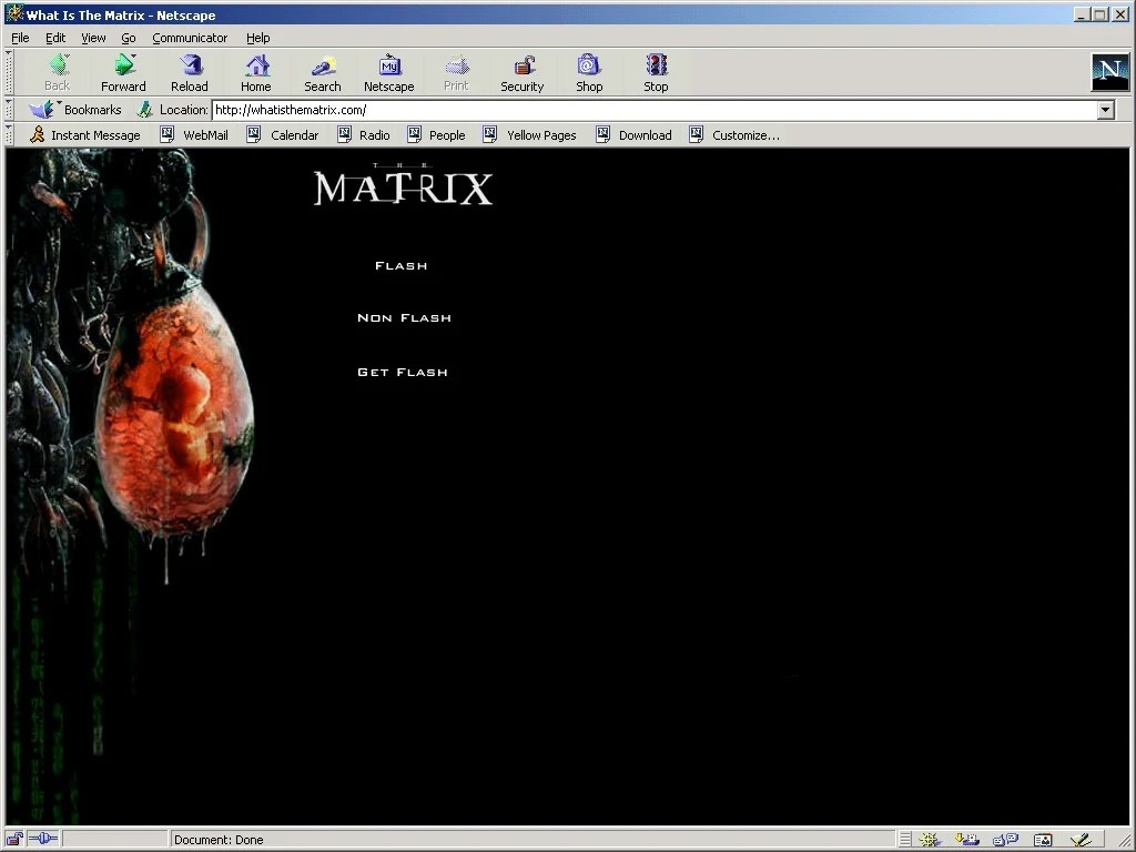 The-Matrix-landing-page-in-Netscape-Navigator-4.08-for-Windows-via-Oldweb.today_