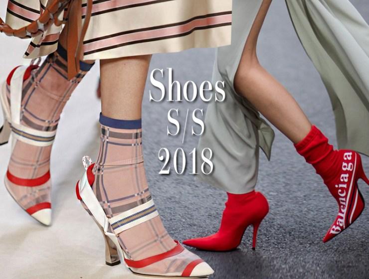 Παπούτσια άνοιξη 2018  Όλες οι Τάσεις από την Εβδομάδα μόδας WOW!!! οι νέες  τάσεις των παπουτσιών που θα φορεθούν το καλοκαίρι. 8f877f45fb7