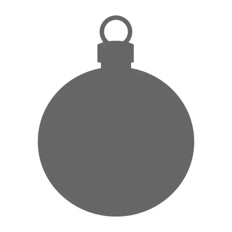 holiday ornament craft shape