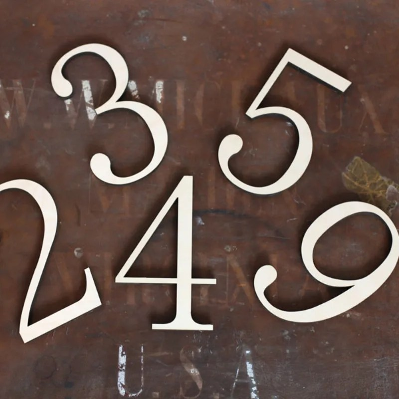 wooden numbers craft cuts