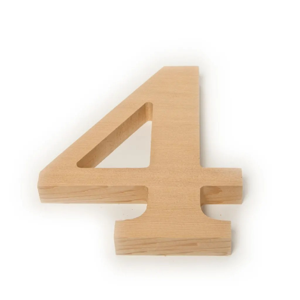 outdoor wood numbers any