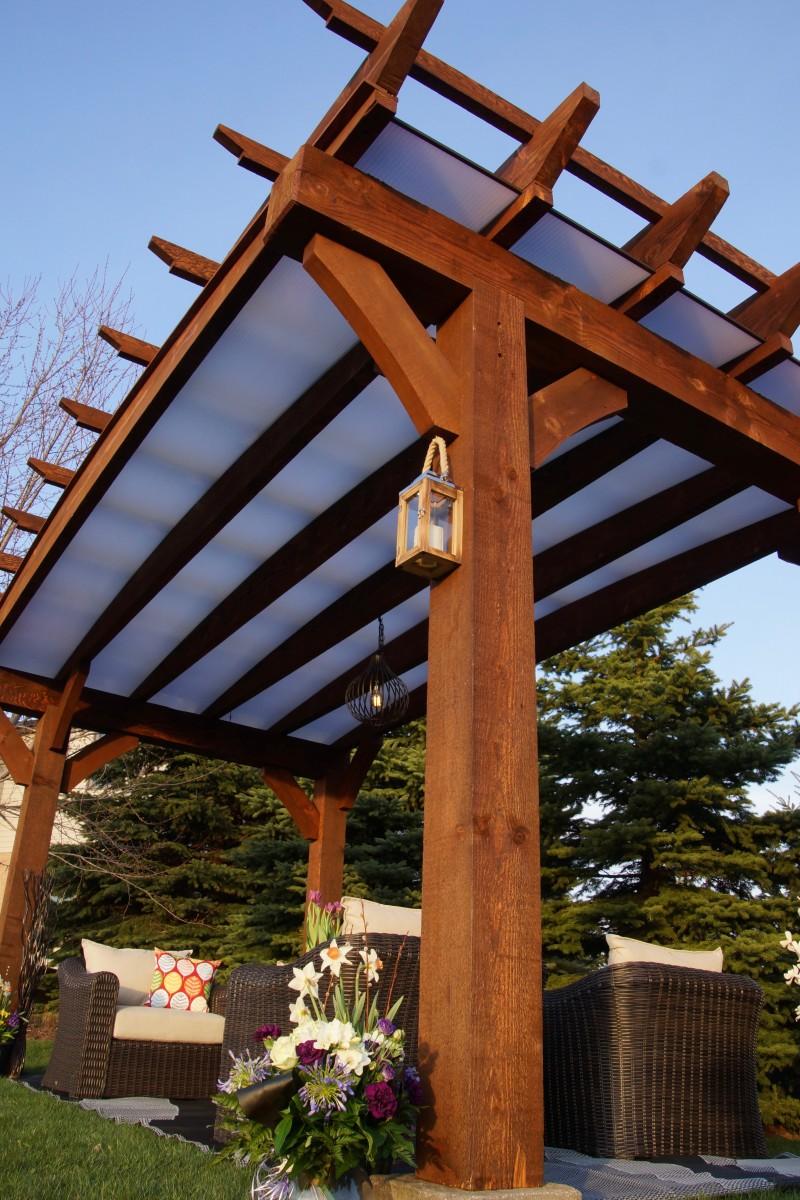 Timberlite Pergola Dave Vanam Inc Southern Ontario