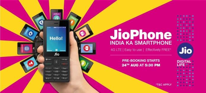 jio phone pre book