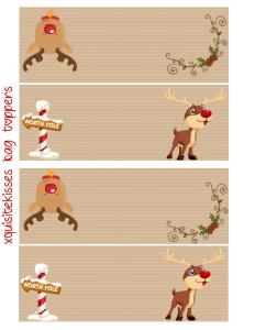 Cute Santa Bag Topper