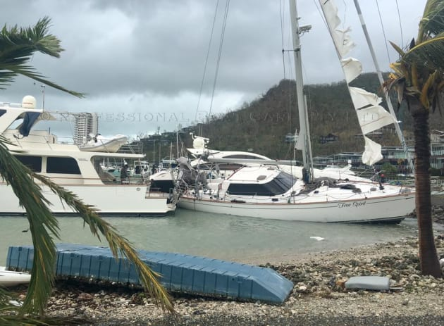 Yachts Damaged And Sunk As The Whitsundays Bears The Brunt