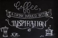 Chalkboard inspiration: Coffee culture