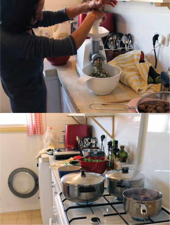 Eema (mother) in her kitchen