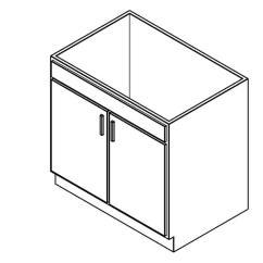 Kitchen Base Cabinets Wooden 橱柜 家用厨房 底柜 双门洗涤台 厨房软件 工具下载 土木在线
