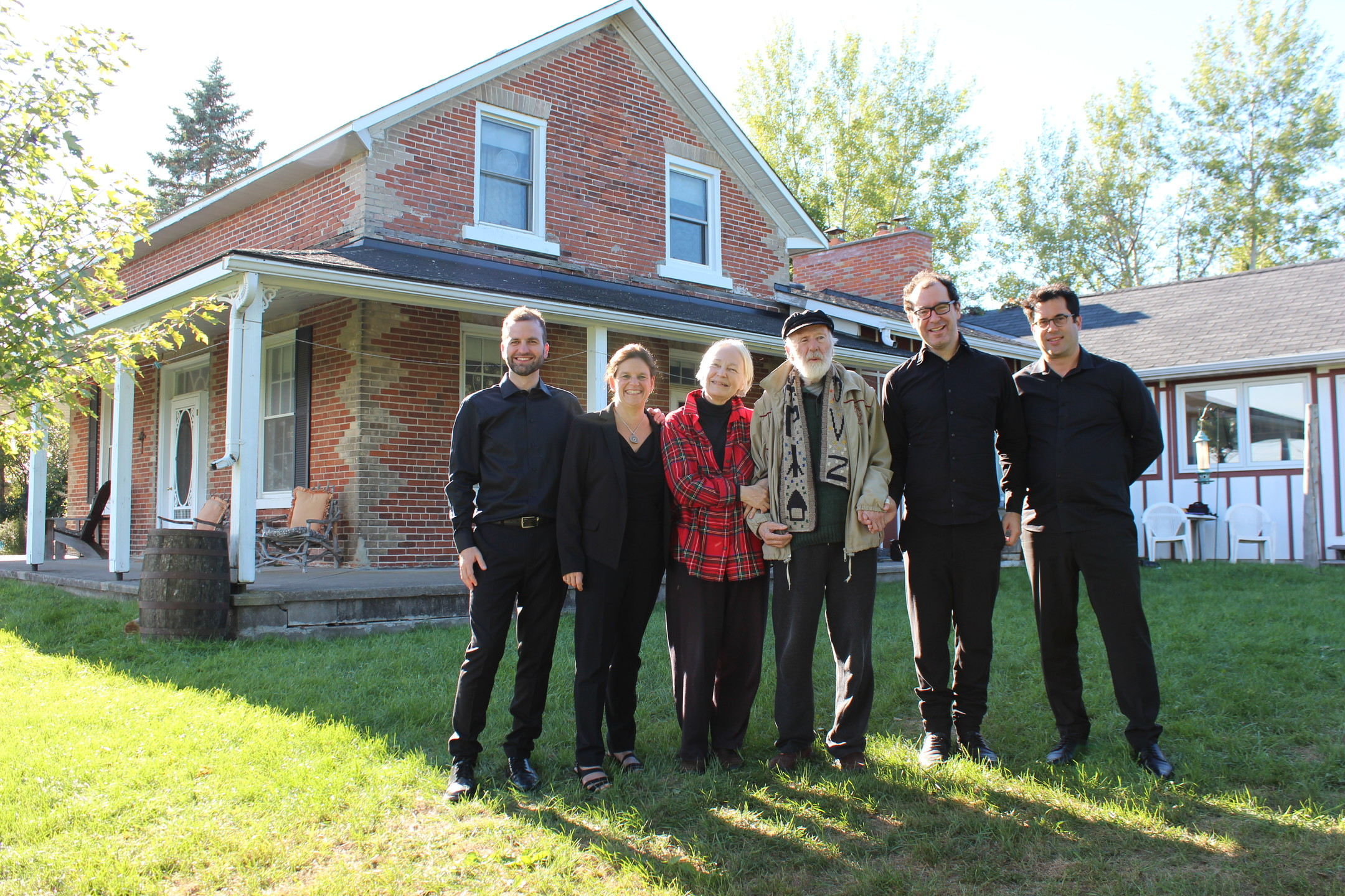 R Murray Schafer and his spouse Eleanor James with the Quatuor Molinari [Indian River (Ontario, Canada), September 23, 2018]