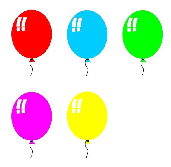 Balloons Free Stock Colored # 297