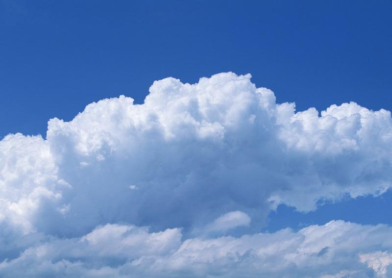 Sky  Free Stock Photo  A cloudy blue sky   11008