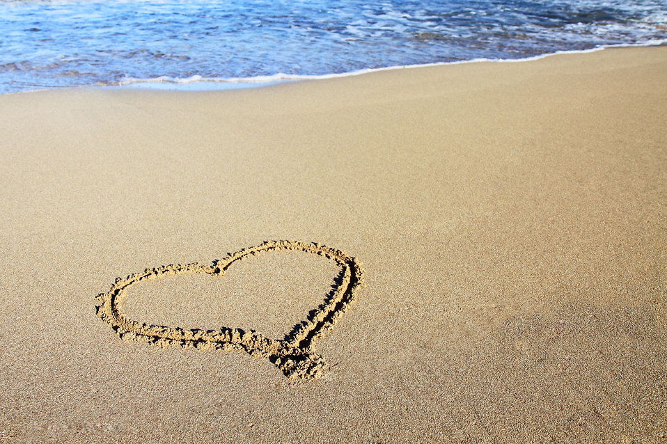 Image result for picture of a heart in the sand