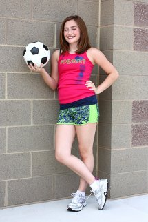 Soccer Free Stock Cute Young Girl Posing With
