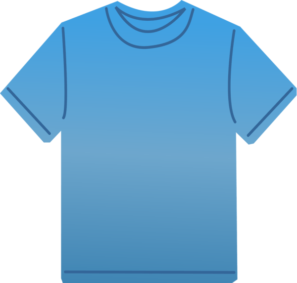 T-shirt Free Stock Illustration Of Blank Blue