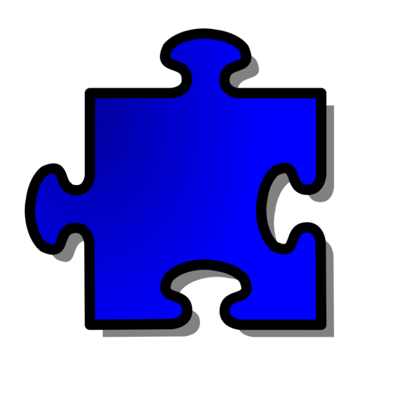 Puzzle Piece Free Stock Illustration Of Blue