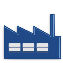 Factory Free Stock Illustration Of Blue