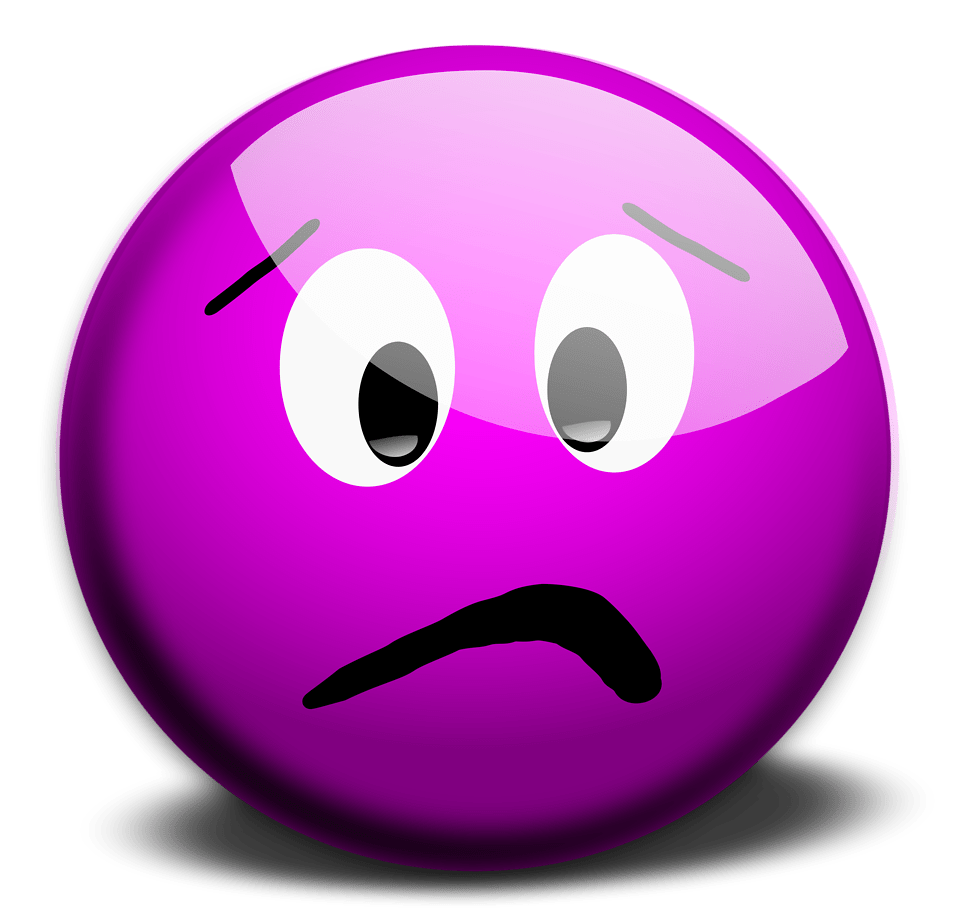 Smiley  Free Stock Photo  Illustration of a purple smiley face   15455