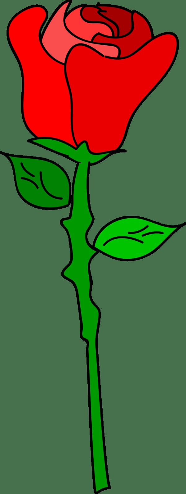 Cartoon Rose Clip Art