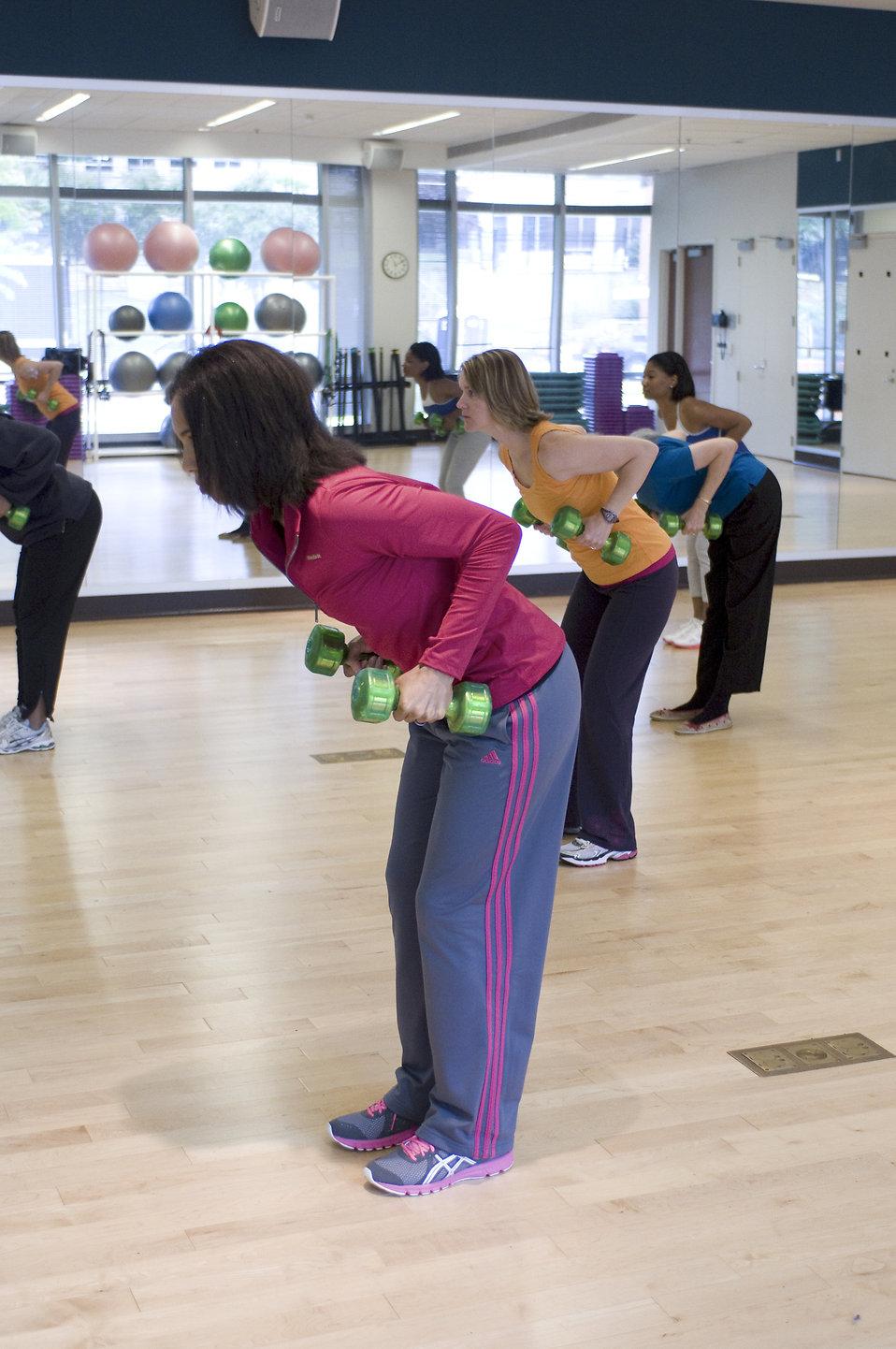 Health Free Stock Photo A Group Of Women Doing Aerobics 16957