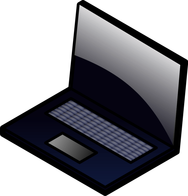 Cartoon Laptop Computer Clip Art