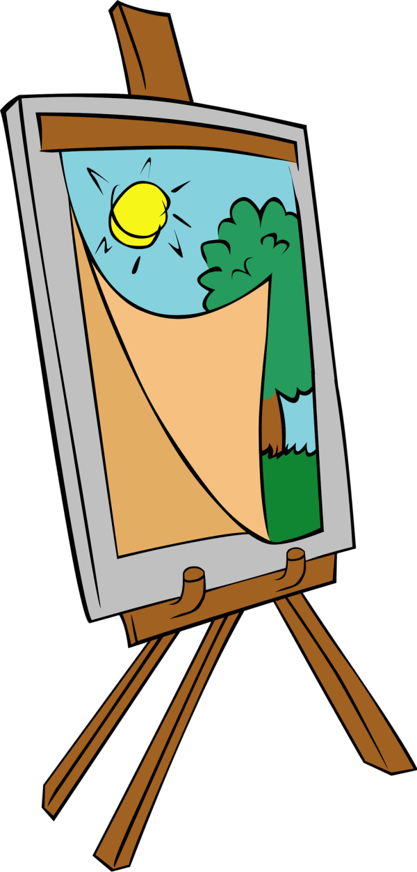 Painting Free Stock Illustration Of Easel # 17480