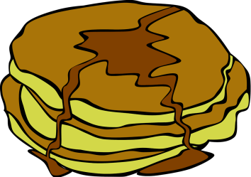 pancakes illustration breakfast