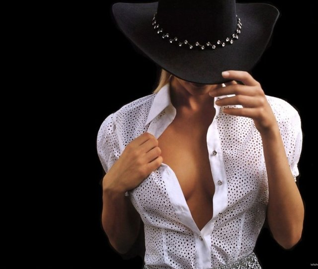 Sexy Woman In Cowboy Hat Free Stock Photo