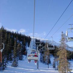 Ski Chair Lift Overstuffed And Ottoman Covers Free Stock Photo View From A At Mountain