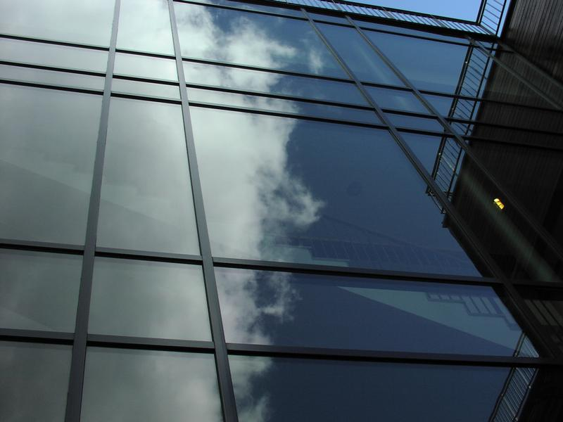 Building Office  Free Stock Photo  Sky reflecting on a