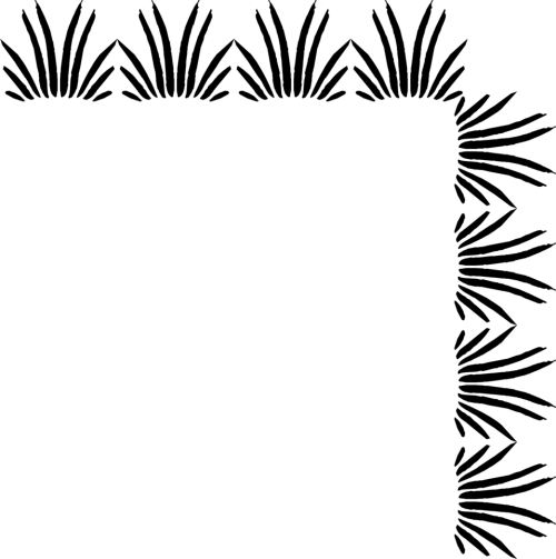small resolution of illustration of an upper right grass frame corner free stock photo