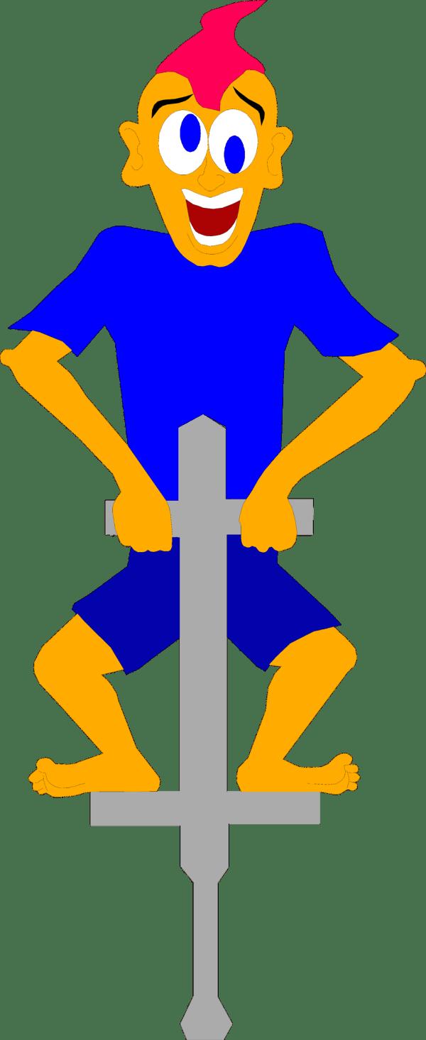 Pogo Stick Free Stock Illustration Of Boy