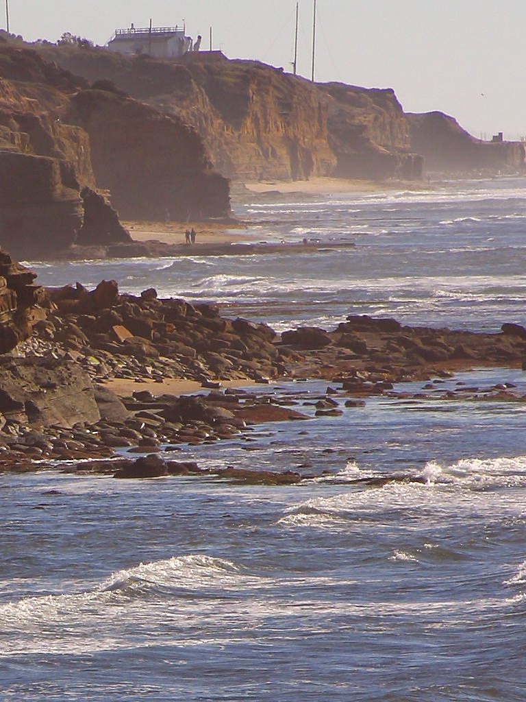 Beach  Free Stock Photo  Ocean waves crashing on a rocky