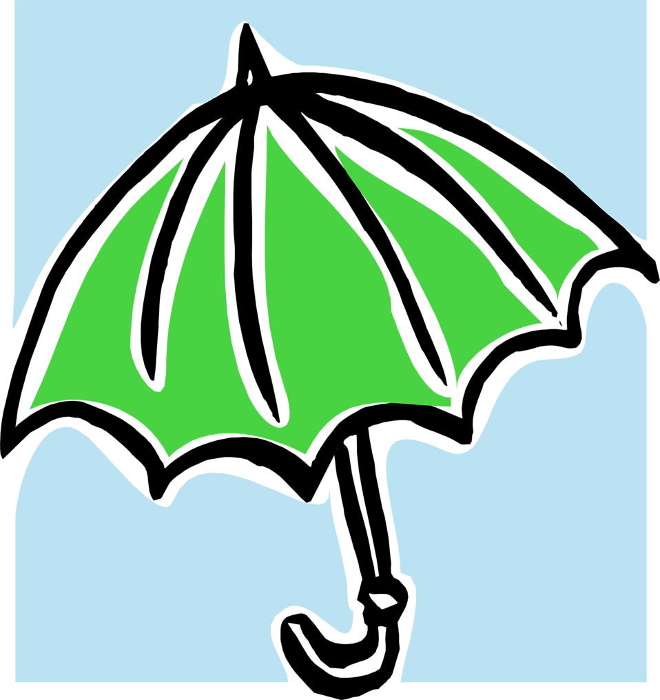 Umbrella  Free Stock Photo  Illustration of a green