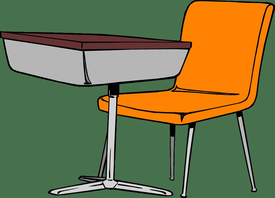 Desk  Free Stock Photo  Illustration of a student desk
