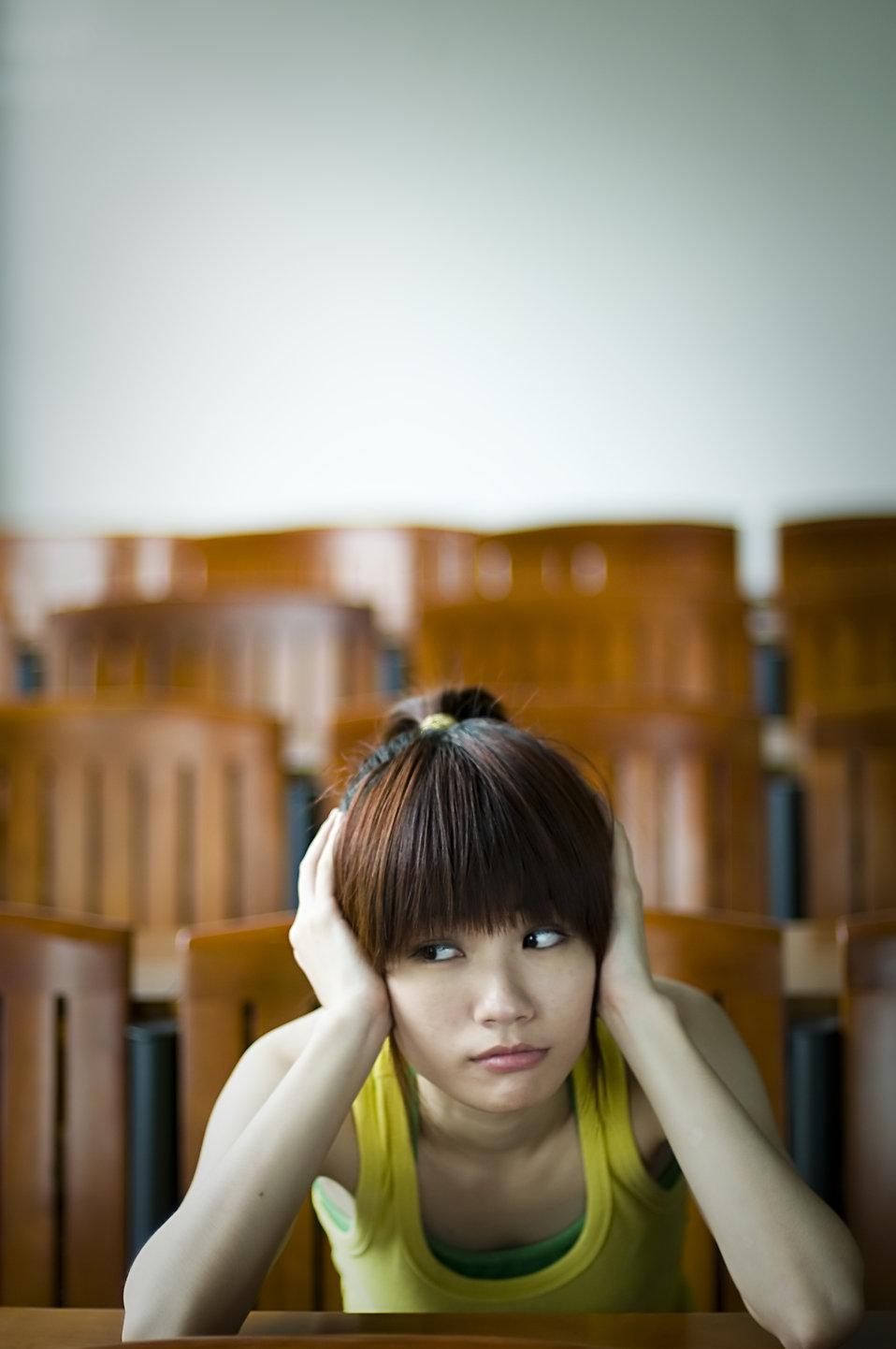 Tired Girl  Free Stock Photo  A beautiful Chinese girl