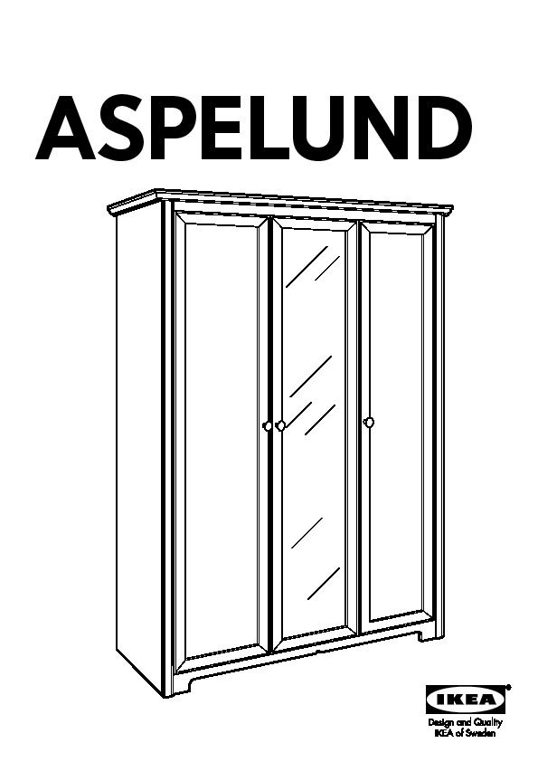 aspelund armoire 3 portes ikea notice