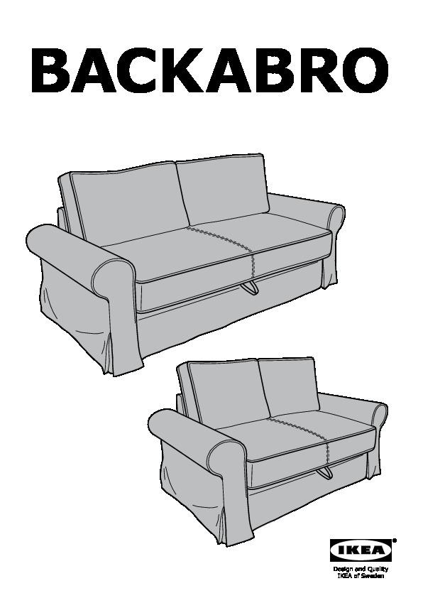 Divani 2 Posti Ikea Letto : divani, posti, letto, BACKABRO, Divano, Letto, Posti, Hylte, Beige, IKEAPEDIA