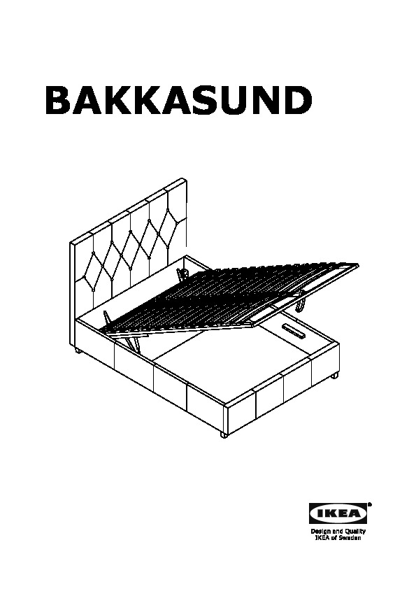 Struttura Letto Con Contenitore Bakkasund Struttura Letto