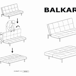 Sleeper Sofa Assembly Instructions Italian Leather Balkarp Bed Blue Ikea United States Ikeapedia