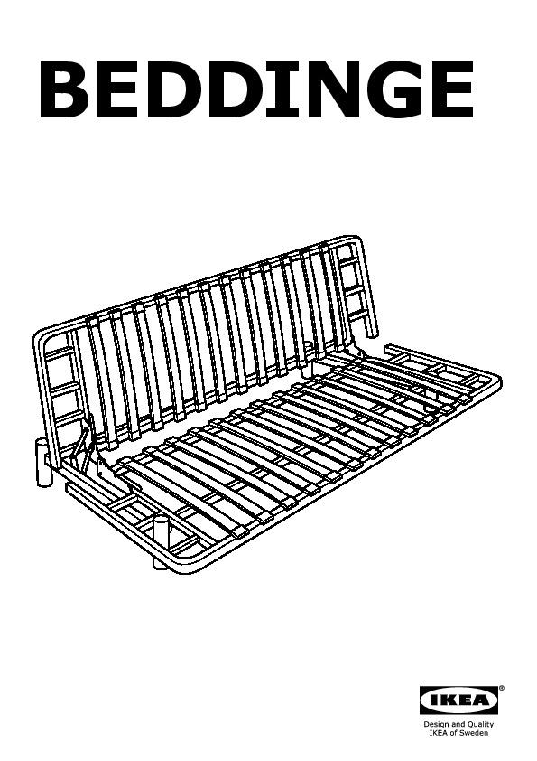 BEDDINGE/LÖVÅS Sleeper sofa Isunda gray (IKEA United