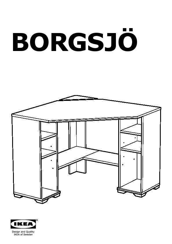 Bureau D Angle Ikea : bureau, angle, BORGSJÖ, Bureau, D'angle, IKEAPEDIA