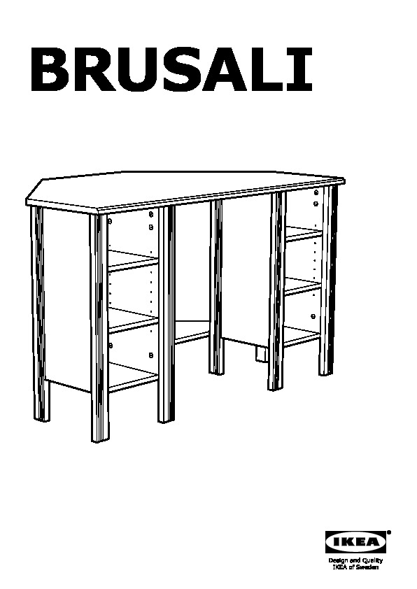 Bureau D Angle Ikea : bureau, angle, BRUSALI, Bureau, D'angle, IKEAPEDIA