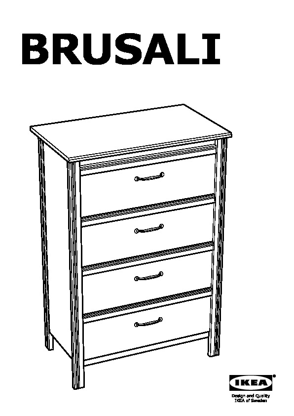 BRUSALI Chest of 4 drawers white (IKEA United Kingdom