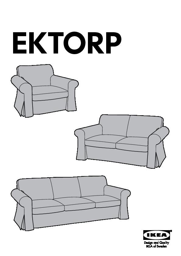Ektorp Housse De Canapé 3pla Mobacka Beige Rouge Ikea