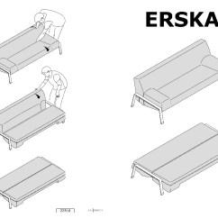 Sleeper Sofa Assembly Instructions Donation Pickup Los Angeles Erska Bed Skiftebo Orange Ikea United States