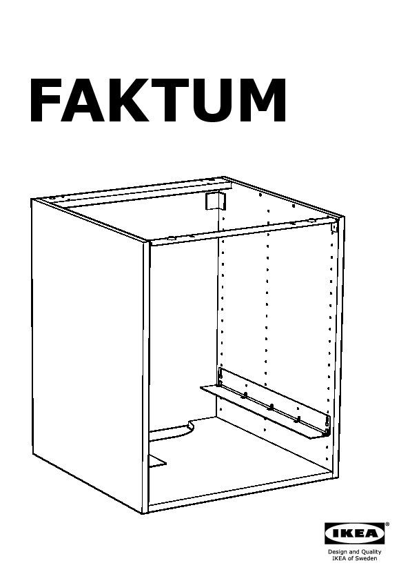 FAKTUM Base cabinet for oven Ramsjö black-brown (IKEA