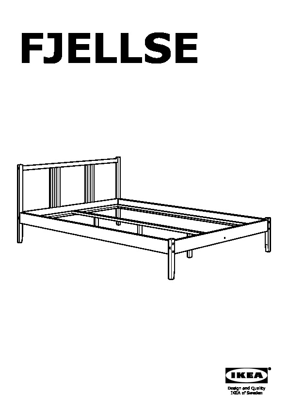 FJELLSE Bed frame pine, Leirsund (IKEA United Kingdom