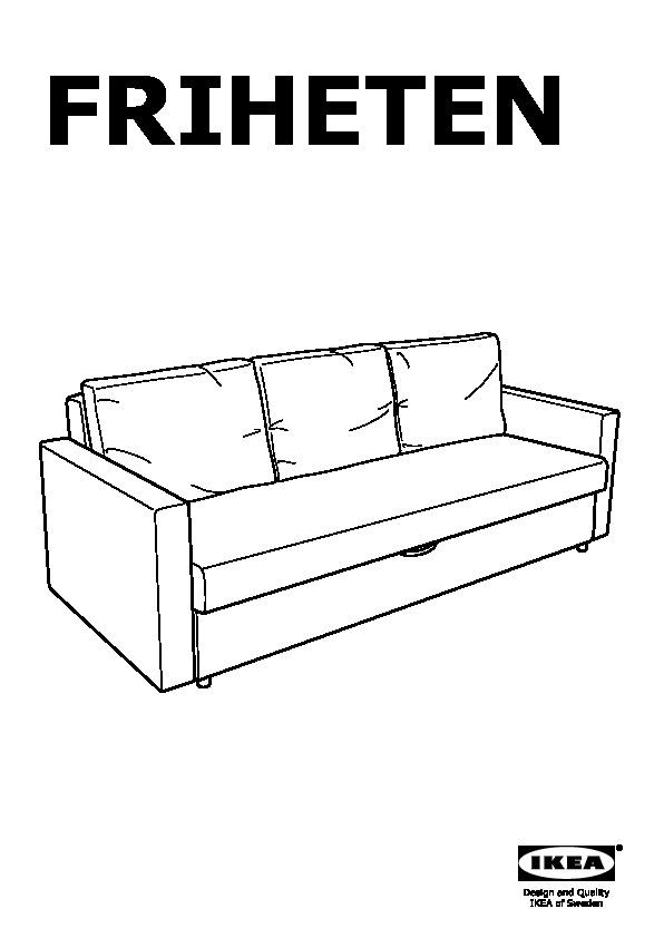 FRIHETEN Three-seat sofa-bed Skiftebo dark grey (IKEA