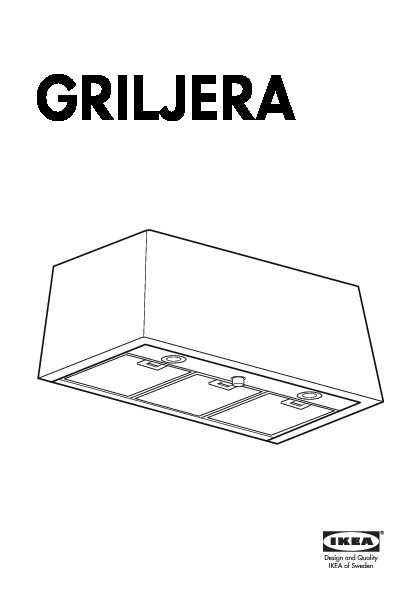 GRILJERA Wall mounted extractor hood stainless steel (IKEA